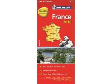 bokomslag Frankrike 2018 Michelin 721 Karta