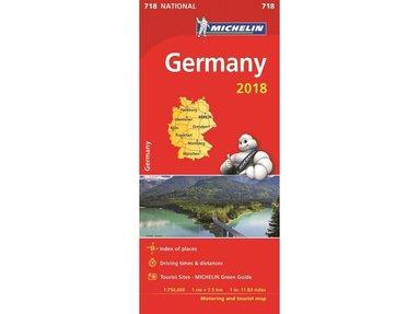 bokomslag Tyskland 2018 Michelin 718 Karta