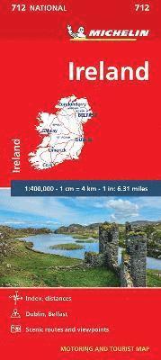 bokomslag Ireland - Michelin National Map 712