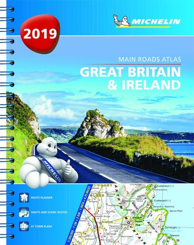 bokomslag Great britain & ireland 2019 - tourist & motoring atlas a4 spiral