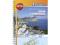 bokomslag Spain & portugal 2018 - tourist and motoring atlas (a4-spiral)