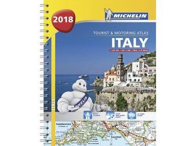 bokomslag Italy - tourist and motoring atlas 2018 (a4-spiral)