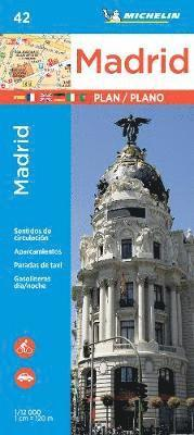 bokomslag Madrid Michelin map 42 - 1:12000