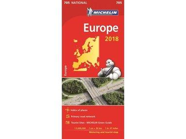 bokomslag Europa 2018 Michelin 705 karta : 1:3milj