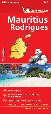 bokomslag Maurice (Mauritius) - Michelin National Map 740