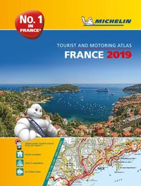bokomslag France 2019 -a4 tourist & motoring atlas - tourist & motoring atlas a4 spir