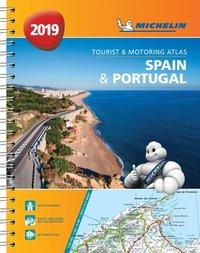 bokomslag Spain & portugal 2019 - tourist and motoring atlas (a4-spirale) - tourist &