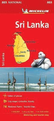 bokomslag Sri Lanka National Map 803