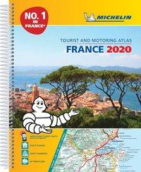 bokomslag France 2020 - A4 tourist & motoring atlas - tourist & motoring atlas