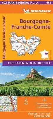bokomslag BOURGOGNE-FRANCHE-COMTE, France - Michelin Maxi Regional Map 602