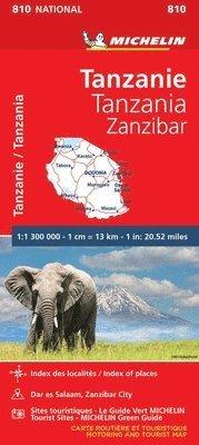 bokomslag Tanzania &; Zanzibar - Michelin National Map 810
