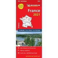 bokomslag Frankrike 2021 Michelin 721 Karta