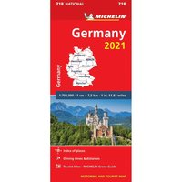 bokomslag Tyskland 2021 Michelin 718 Karta
