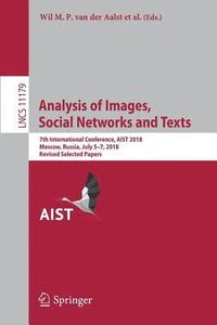 bokomslag Analysis of Images, Social Networks and Texts