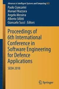 bokomslag Proceedings of 6th International Conference in Software Engineering for Defence Applications