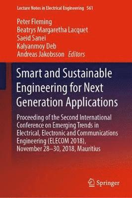 bokomslag Smart and Sustainable Engineering for Next Generation Applications