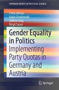 bokomslag Gender Equality in Politics