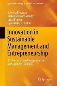 bokomslag Innovation in Sustainable Management and Entrepreneurship