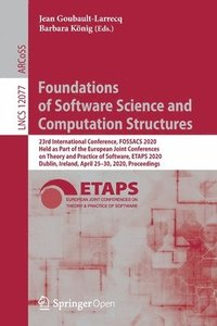 bokomslag Foundations of Software Science and Computation Structures