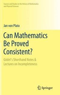 bokomslag Can Mathematics Be Proved Consistent?
