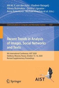 bokomslag Recent Trends in Analysis of Images, Social Networks and Texts