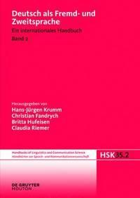 bokomslag Deutsch ALS Fremd- Und Zweitsprache, 2. Halbband, Handbucher Zur Sprach- Und Kommunikationswissenschaft / Handbooks of Linguistics and Communication Science (Hsk) 35/2