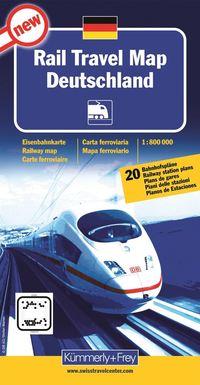 bokomslag Rail travel map Deutschland