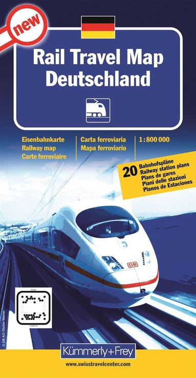bokomslag Rail travel map Deutschland