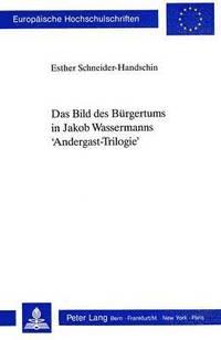 bokomslag Das Bild Des Buergertums in Jakob Wassermanns 'Andergast-Trilogie'
