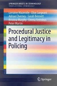 bokomslag Procedural Justice and Legitimacy in Policing
