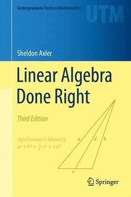 Linear Algebra Done Right 1