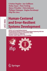 bokomslag Human-Centered and Error-Resilient Systems Development