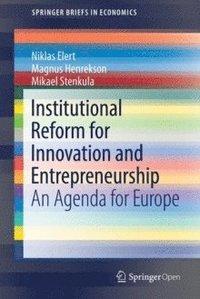 bokomslag Institutional Reform for Innovation and Entrepreneurship