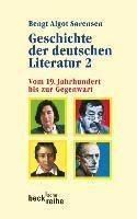bokomslag Geschichte der deutschen literatur 2 : vom 19. jahrhundert bis zur gegenwart
