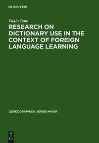 bokomslag Research on Dictionary Use in the Context of Foreign Language Learning