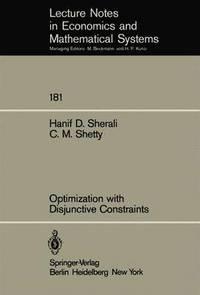 bokomslag Optimization with Disjunctive Constraints
