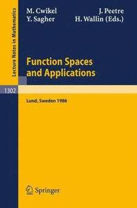 bokomslag Function Spaces and Applications