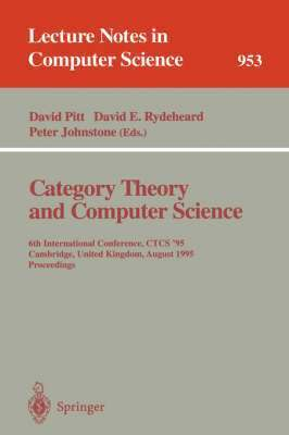 bokomslag Category Theory and Computer Science