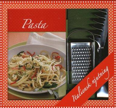 bokomslag Pasta box - bok, parmesan rivjärn & spagettitång