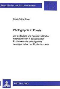 bokomslag Photographia in Poesis