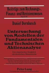 bokomslag Untersuchung Von Modellen Der Fundamentalen Und Technischen Aktienanalyse