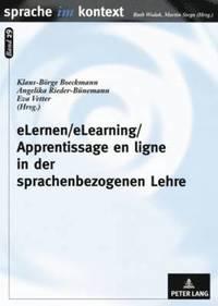 bokomslag Elernen/Elearning/Apprentissage En Ligne in Der Sprachenbezogenen Lehre