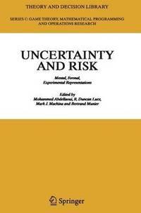 bokomslag Uncertainty and Risk