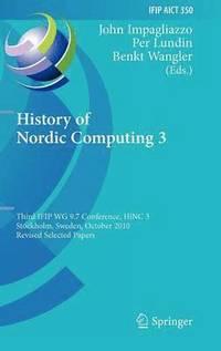 bokomslag History of Nordic Computing 3