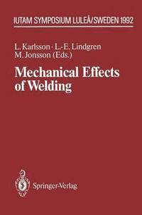 bokomslag Mechanical Effects of Welding