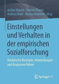 bokomslag Einstellungen Und Verhalten in Der Empirischen Sozialforschung