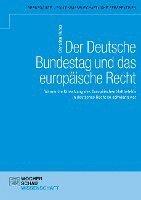 bokomslag Der Deutsche Bundestag und das europäische Recht