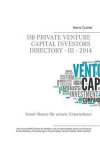 bokomslag DB Private Venture Capital Investors Directory - III - 2014