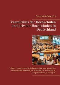 bokomslag Verzeichnis der Hochschulen und privater Hochschulen in Deutschland