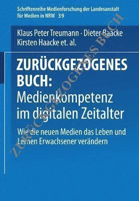 bokomslag Medienkompetenz Im Digitalen Zeitalter